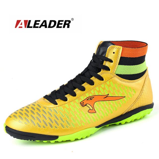 77588f65807 Aleader New TF Men Boys Kids Football Shoes High Top Soccer Boots  Profession Athletic Sport Shoes Outdoor Men Training Sneakers