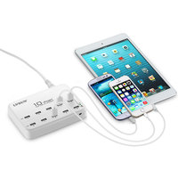60W 12A 10 Port USB Mobile Phone Charger For iPad iPhone 6 Plus 6 5s SAMSUNG Galaxy s6 s4 XIAOMI4 HW HTC AC Power Adapter