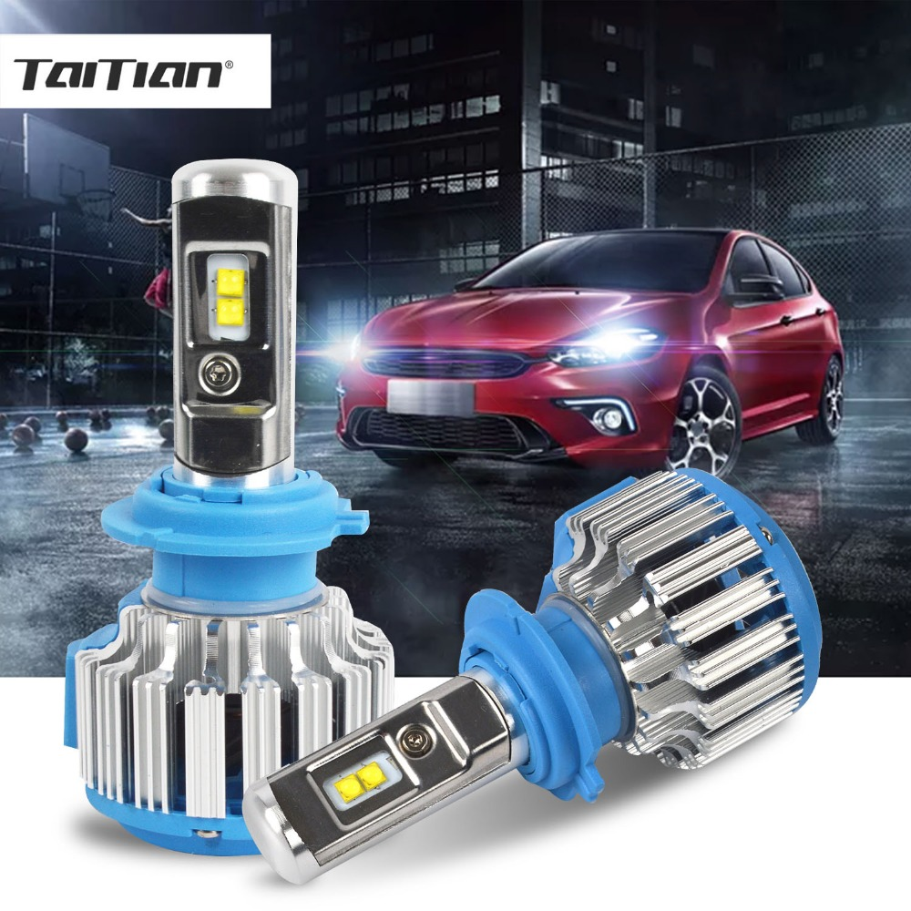 Taitian 2 Pz 70 W 12 V CSP 9600LM 6500 K H1 H7 led 2017 LED lampada H11 Auto Faro H4 spina 9005 HB3 9006 HB4 luce di Nebbia lampadina