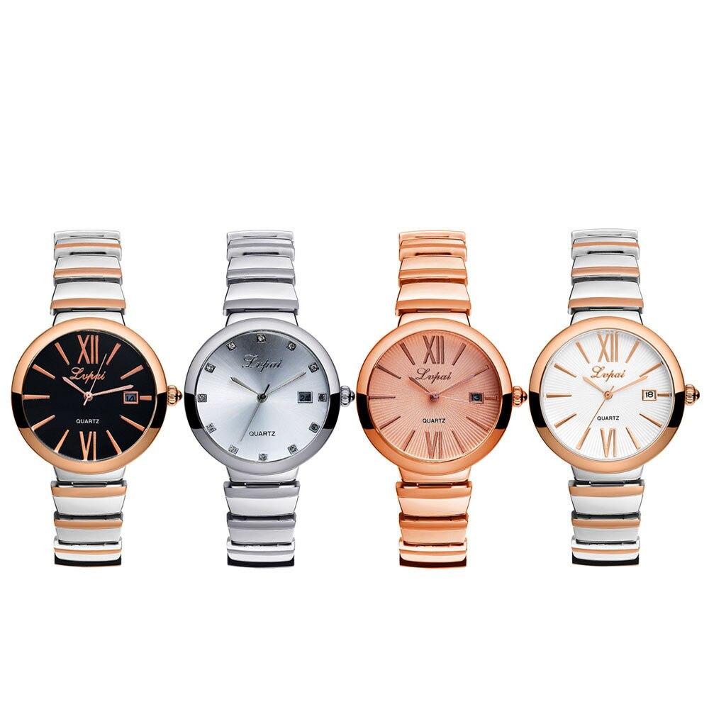 LVPAI 2020 New Fashion Stainless Steel Gold Band Quartz Wtach New Luxury Ladies Dress WristWatch Casual Women Hours Hot Clocks