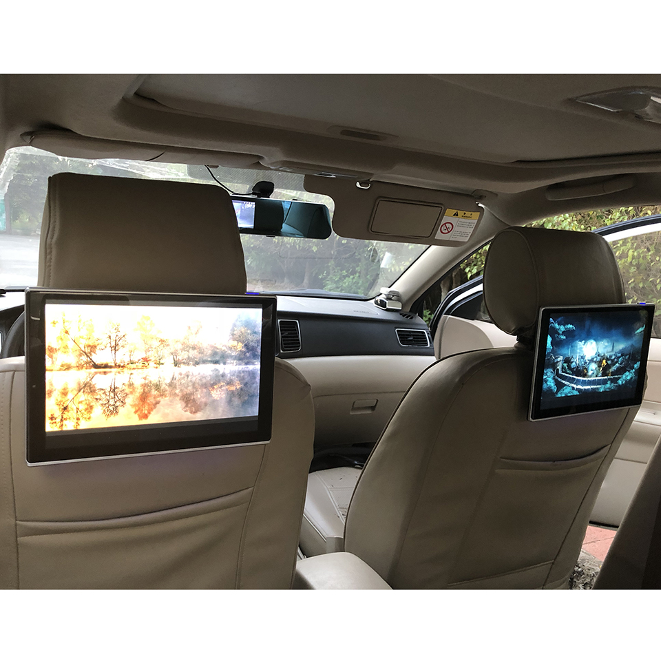 Car Electronics Intelligent System DVD Player Android Headrest With Monitor For Lexus ES Class TV Screen 11 8 inch 2PCS in Car Multimedia Player from Automobiles Motorcycles