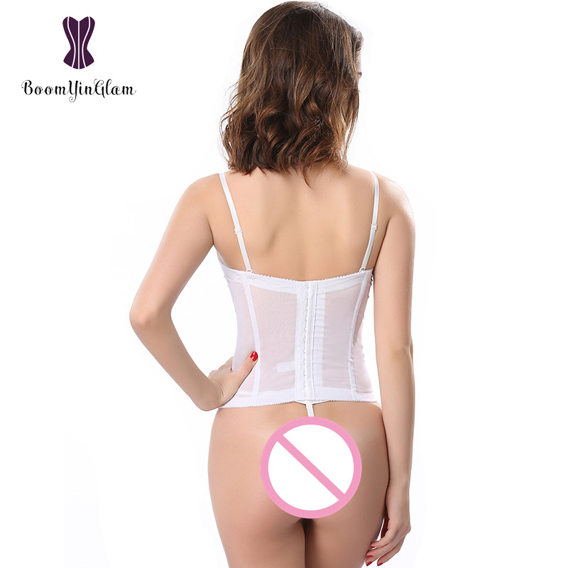 dfdc18d8d45 Free shipping adjustable spaghetti straps slimming body shapewear bra  bustier wedding wear bridal corset with g string 862 -in Bustiers   Corsets  from ...