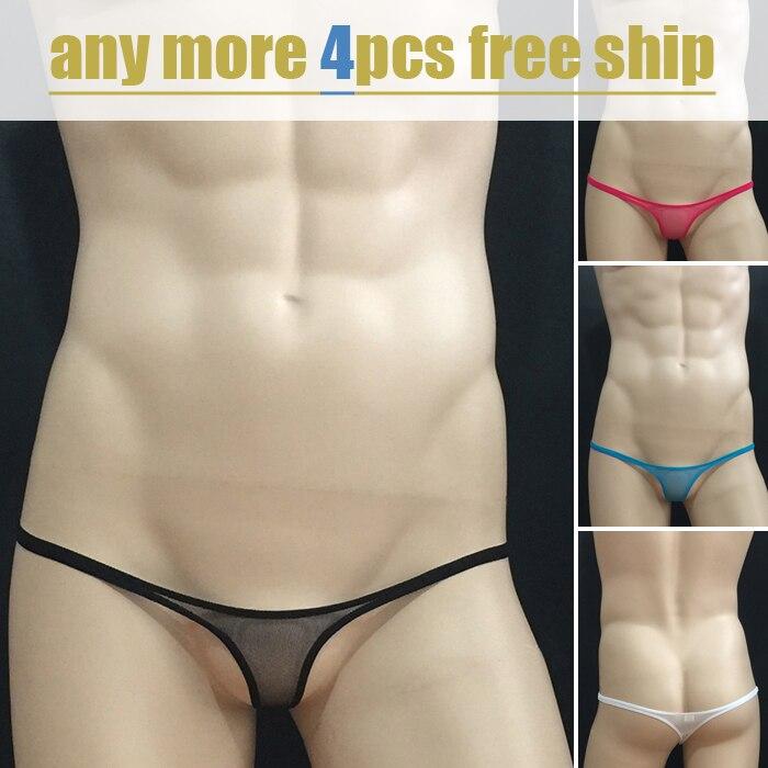 Unsex Underwear Hot Sale Mens Mini Mesh Transparent Thongs Underwear Sexual Erotic Gay Men G-strings Net Men Sex Toy Underwear