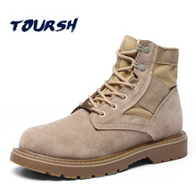 TOURSH Army Men'S Tactical Boots Waterproof High Ankle For Men Commando Combat Shoes Military