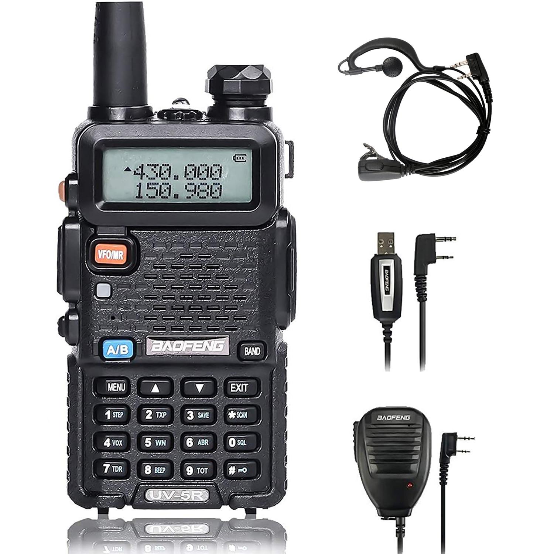 Baofeng VHF UHF Walkie-Talkie Cb-Radio 5W Two-Way 400-520mhz 136-174mhz Uv5r 128CH Upgrade-Version