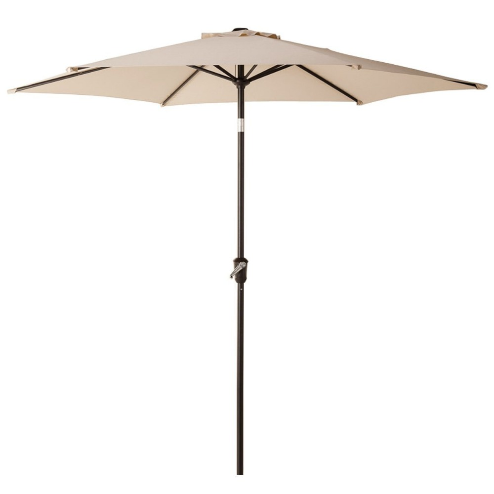 Grand patio 9 Feet Patio Umbrella, Outdoor Market Umbrella with Push Button Tilt and Crank, 6 Ribs, Beige Blue Lime Green чайник vitek vt 1164 gy
