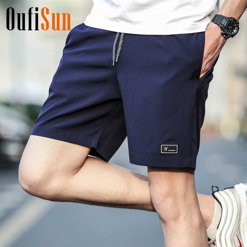 4XL גברים קיץ מקרית מכנסיים גברים חדש לגמרי לוח מכנסיים קצרים 2018 עמיד למים מוצק לנשימה אלסטי אופנה מזדמן קצר גברים