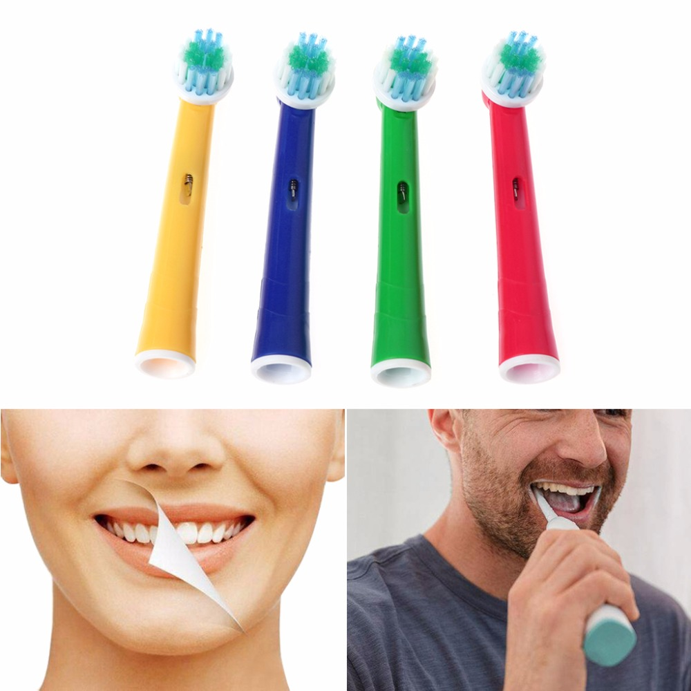 4Pcs/Set EB-17A Electric Toothbrush Head Soft Bristle Replacement 4 Color For Oral B