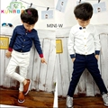 2017 New Boys Wedding Dress Shirts with Flower Brand Gentleboys Cotton Long Sleeve Shirts Boys Wedding Party Blouses B019