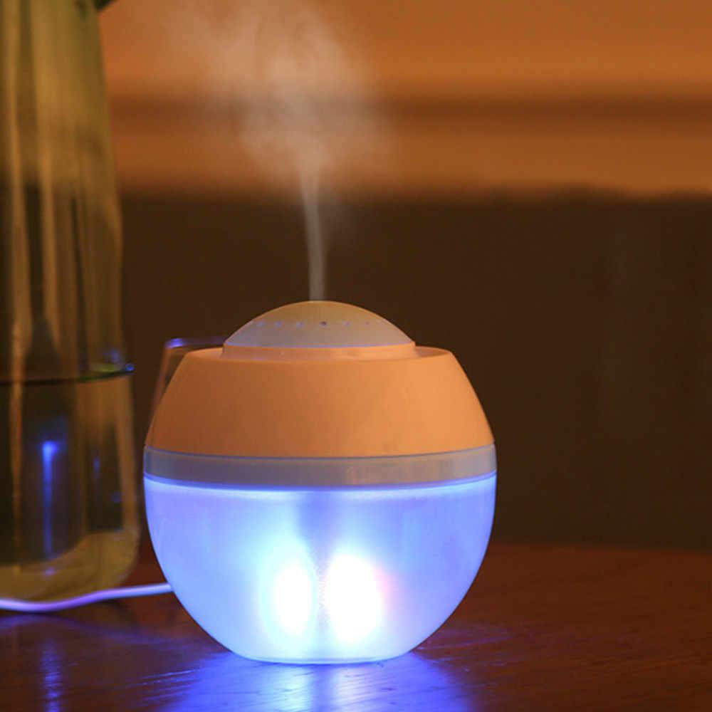 GRTCO 500ml aromalı uçucu yağ difüzör USB ultrasonik hava nemlendirici ile ahşap tahıl 7 renkli LED ışıklar ofis ev için
