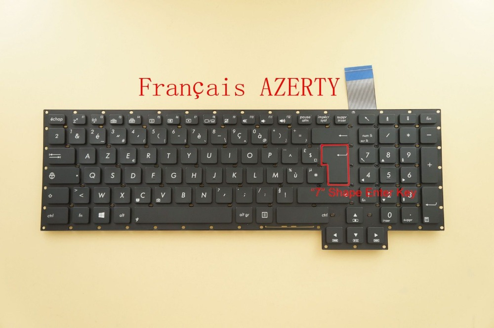 New Laptop keyboard for  ASUS GFX70JS GFX70JZ  French/Fr layout for asus a53be a53br a53by a53e a53sc a53sd k54 laptop keyboard
