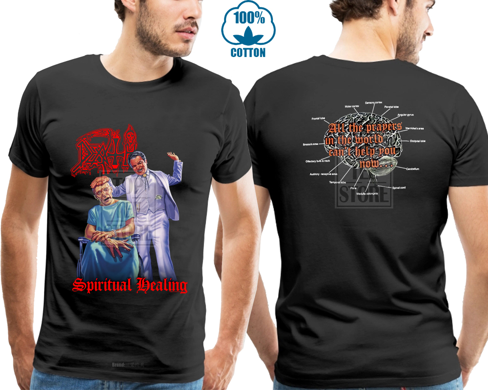 Death Spiritual Healing Shirt M L Xl Death Metal Tshirt Official T Shirt New in T Shirts from Men 39 s Clothing