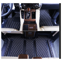 lsrtw2017 fiber leather car interior floor mat for toyota alphard Vellfire 2002 2020 rug carpet car styling interior floor styli