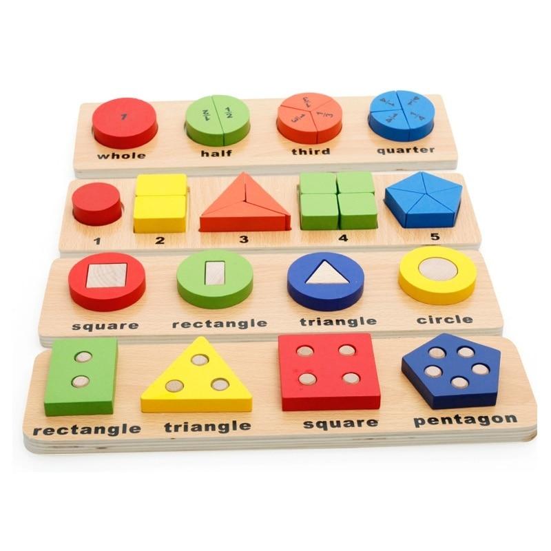 Matematikai játék Geometriai alakzatok Board Oktatási játékok (4 stílus)