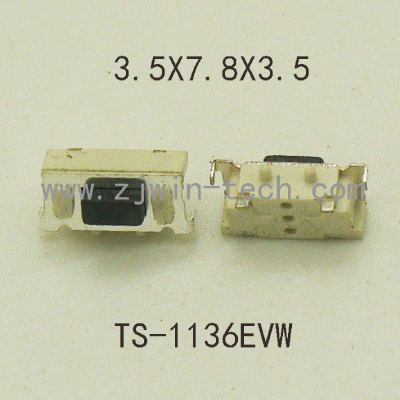 50PCS High quality SMT 2PIN Tactile Tact Push Button Micro Switch Momentary 3X6X3.5MM Side Push 50pcs micro push button 3x4x2 5 4feet u type smt tact button switch mounting for car system cigarette tool