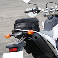 7.5 10L Motorcycle Bike rear trunk Waterproof Back Seat Carry Luggage Tail Bag
