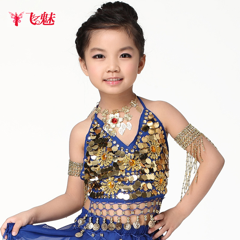 Belly dance top child top belly dance after the bandage bellyached multicolor free shipping