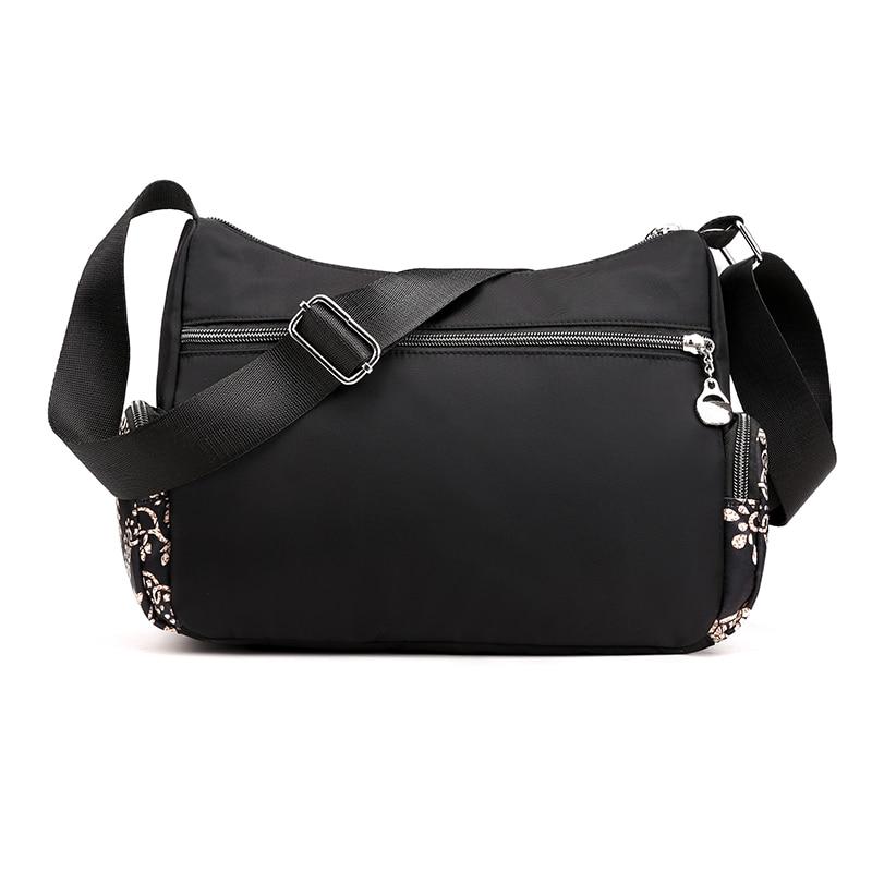 Image 3 - Fashion Cartoon Printing Bag Multi Pocket Women Shoulder Bag High Quality Waterproof Nylon Fabric Messenger Bag Female HandbagShoulder Bags   -