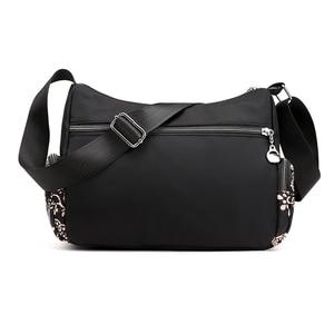 Image 3 - Fashion Cartoon Printing Bag Multi Pocket Women Shoulder Bag High Quality Waterproof Nylon Fabric Messenger Bag Female Handbag