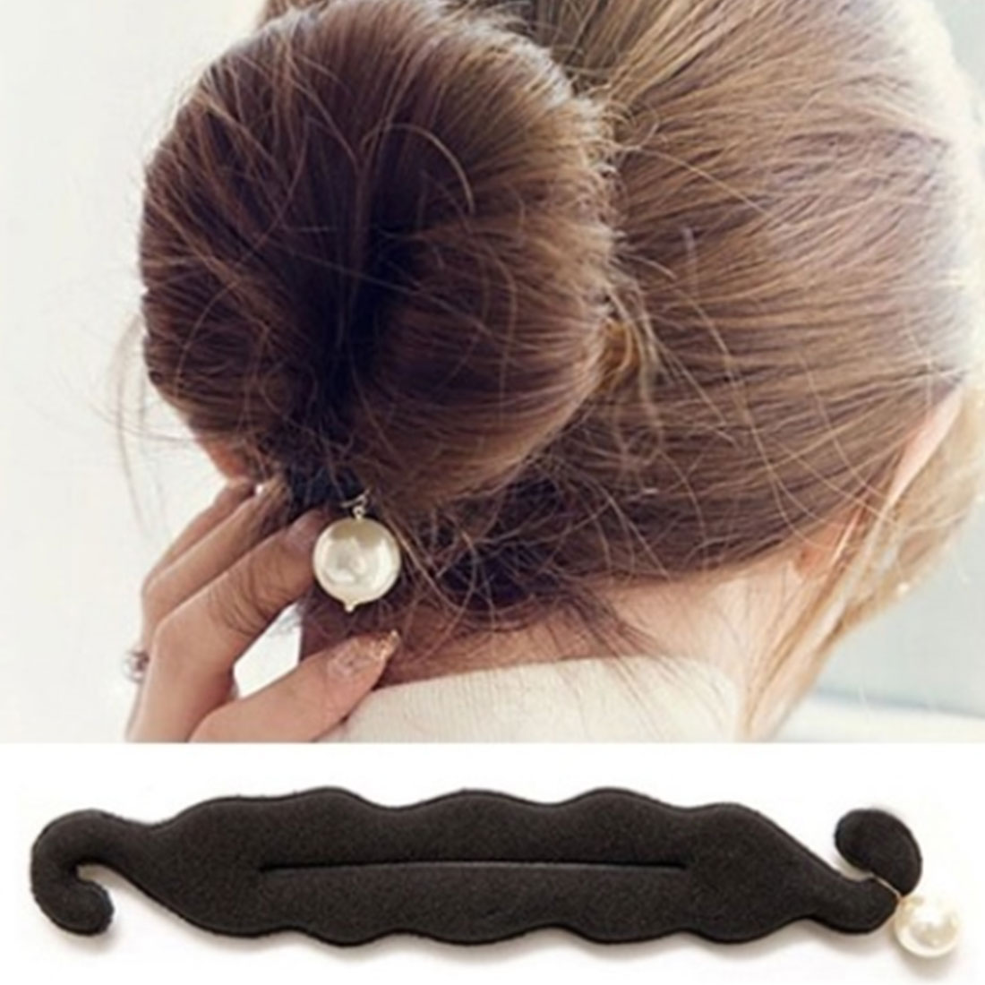 Pearl Sponge Hair Styles Maker Tress Tool Hair Ornaments Hair Accessories Women Magic Foam Sponge DIY Bun Roller for   Headwear