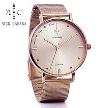 Для женщин Часы кутюр Кварцевые часы Для женщин со стразами кожа повседневные платья розовое золото Кристалл Reloje mujer 2016 Montre Femme