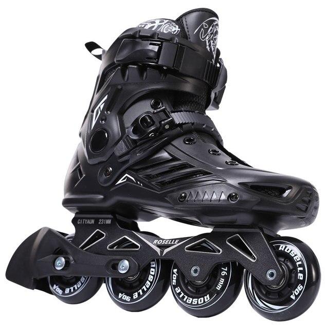 Inline Speed Skates Sepatu Hoki Roller Skates Sneakers Rol Wanita Pria  Sepatu Roda untuk Orang Dewasa d696a0d57e