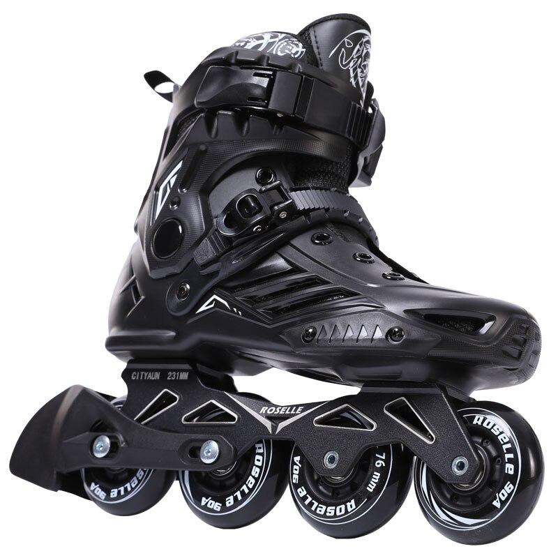 Inline Vitesse chaussures de skate Roller Hockey chassures de skate Rouleaux Femmes Hommes patins à roulettes Pour Les Adultes Patins Inline Professionnel