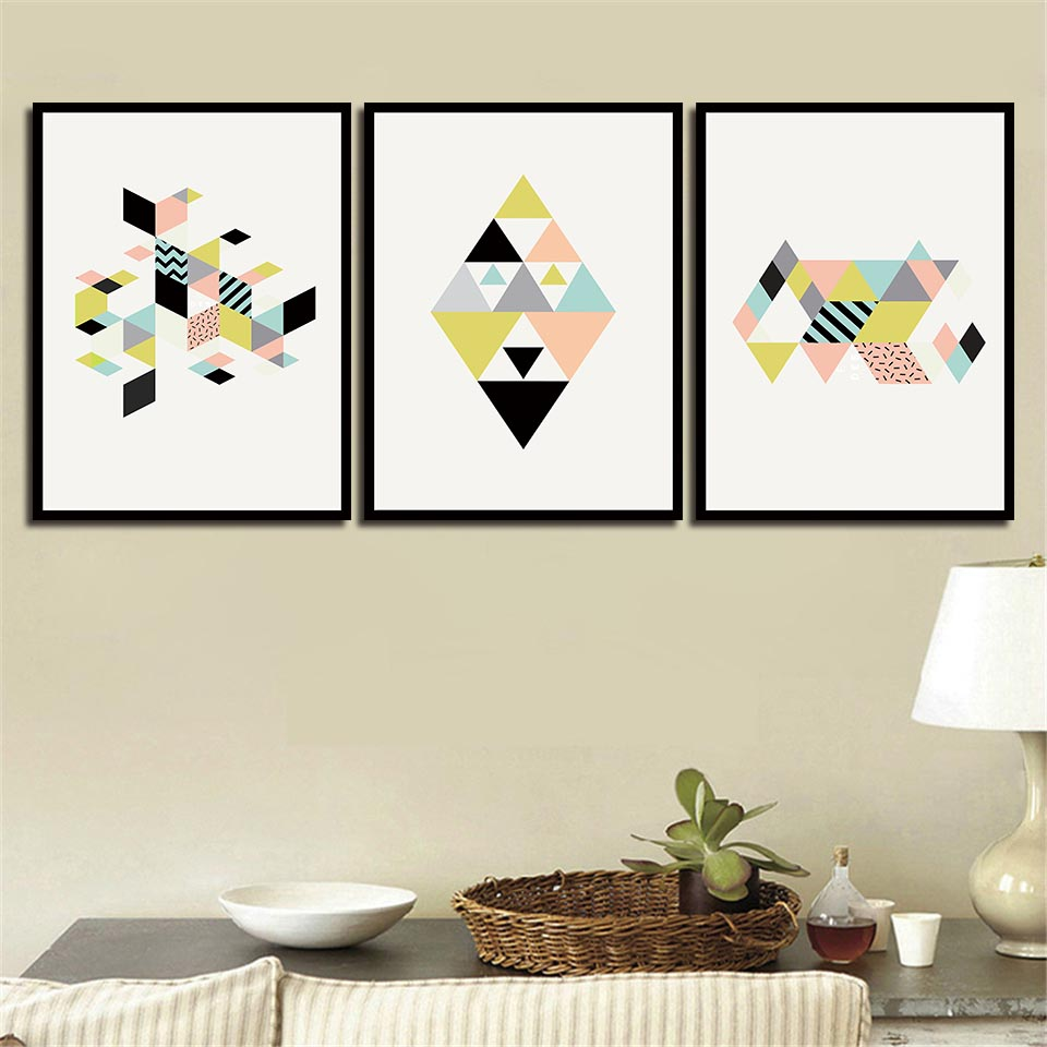 Nordic Posters HD Prints Abstract Geometry Landscape Painting Wall Artwork Canvas A4 Pictures Nursery For Kids Room Decoration