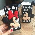 Mickey minnie mouse lunares pareja case para appe iphone 7 7 plus 6 6 s 4.7 6 plus 6 splus 5 5S 5SE 3D Regalos del día de San Valentín