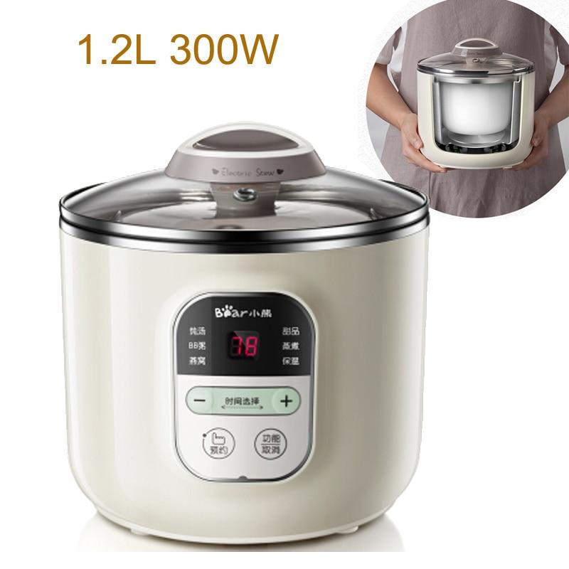 15% Ja6 Microcomputer Control Electric Slow Cooker 1.2l 300w Reservation+heat Preservation Electric Cooker Anti-dry Porridge Pot Agreeable Sweetness