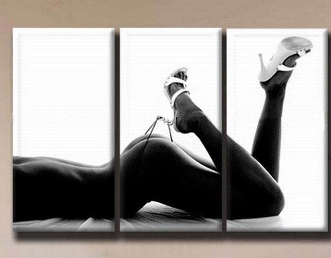 Hand Painted Canvas Sexy Nude Girl Oil Painting Wall Pictures For Living Room Home -6993