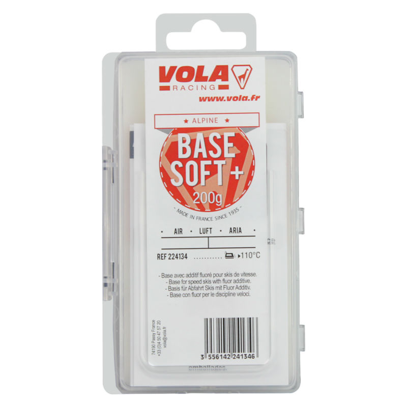 VOLA Base soft wax with fluor additive for speed ski 200g vola ski snowboard training wax 500g red block waxes ideal for ski clubs junior racing training intermediate snow temperature