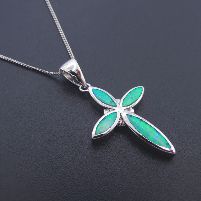 New arrival jewelry pendant necklace with green created opal sister new arrival jewelry pendant necklace with green created opal sister pendant for women nice gift charms aloadofball Image collections