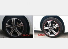 цены Electroplate Color Car Motorcycle Wheel Hub Tire Sticker Car Decorative Strip Wheel Rim Protection Care Covers ZST