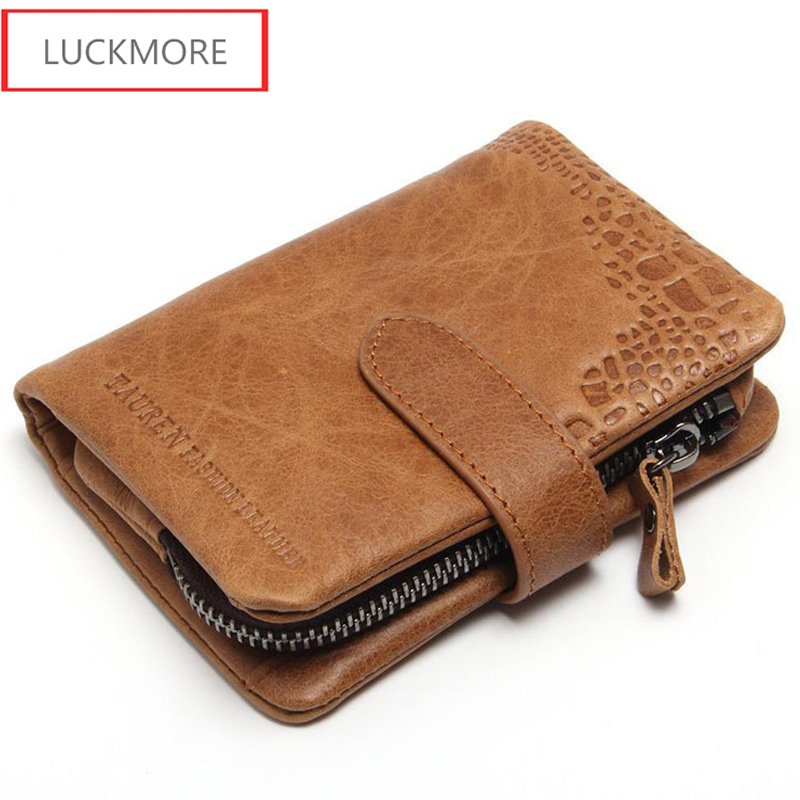 Brand Men Wallets Dollar Price Purse Genuine Leather Wallet Card Holder Luxury Designer Clutch Busines Short Wallet High Quality