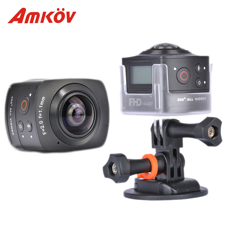 US $125 99 |Original Amkov Amk100s Camera 360 Degree Sport Camera All View  1440P@30FPS HD WiFi Best 360 Camera Panoramic Action Camera-in 360° Video
