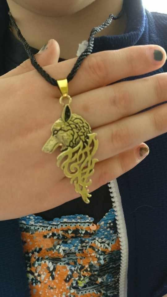 Chengxun Viking Serigala Dengan Celtic Simpul Antik Agama Liontin Kalung Pria Pria Fashion Punk Anak Laki-laki Keren Collier