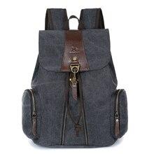 Männer casual rucksack männer solide leinwand schule rucksäcke für teenager männer reisetaschen Neuen vintage rucksack