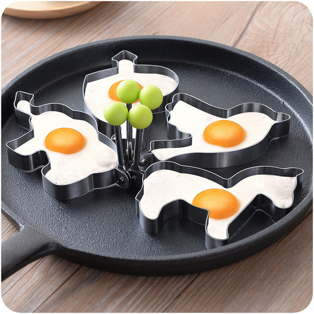 Stainless steel Animal form for frying eggs tools omelette mould device egg/pancake ring egg shaped kitchen appliances XGR0118