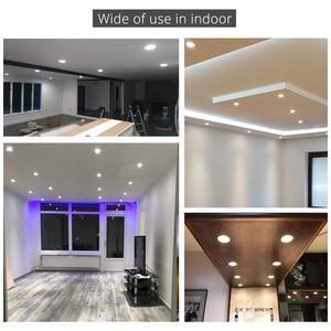 Image 2 - 20 шт./лот оптовая продажа 3 Вт 4 Вт 5 Вт 7 Вт светодиодный встраиваемый потолочный светильник коридорный белый корпус чистый/натуральный/теплый белый