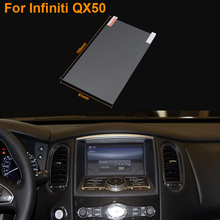 Car Styling 7 Inch GPS Navigation Screen Steel Protective Film For Infiniti QX50 Control of LCD Screen Car Sticker