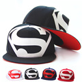 2015 новинка унисекс плоские шляпы хип-хоп супермен Hat Cap супер лето свободного покроя открытый Snapback для мужчин и для женщин