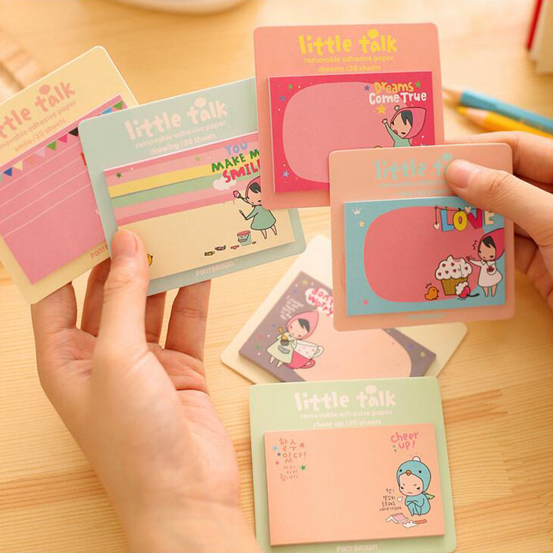 4 pcs/Lot Post It Kawaii Sticky Notes Rilakkuma Planner Notepad Stationery Papelaria Office Material School Supplies