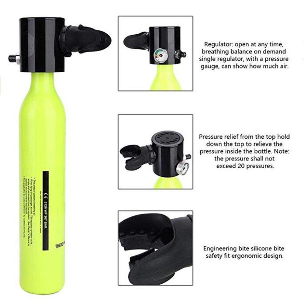 Mini réservoir d'oxygène de plongée sous-marine respirateur respiratoire bouteille d'oxygène équipement de natation adulte - 2