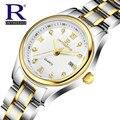RON Moda Quartz Watch Relogio feminino Relógios Mulheres Vestido de Diamantes de Luxo Da Marca Pulseira de Ouro Relógio de Pulso montre femme