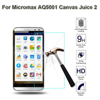 Glass Film For Micromax AQ5001 Canvas Juice 2 Tempered Glass Screen Protector 2.5 9h Safety Protective Film on Juice2 Aq 5001