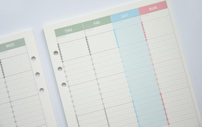 A5/A6 cuaderno espiral recambios de papel de relleno para Filofax ...