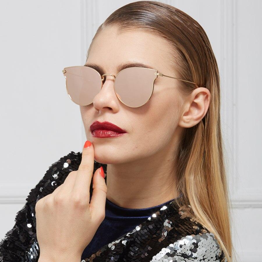 b47737f9 € 7.66 49% de DESCUENTO|2018 nuevo lente plana gafas de sol moda Steampunk  gafas Vintage Retro gafas de sol de mujer para hombres, diseñador de ...