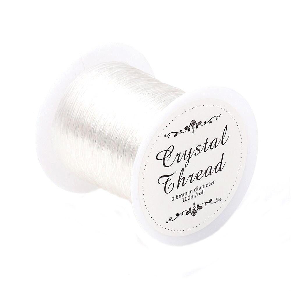 Pandahall 1 Roll (100m) 0.8mm Clear Crystal Stretch Elastic Craft Bracelet  Beads Thread 2a3f0e2f2891