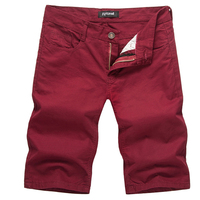 2018 Mens Shorts Casual Bermuda Brand Compression Male Solid Color Cargo Shorts Men Cotton Fashion Men